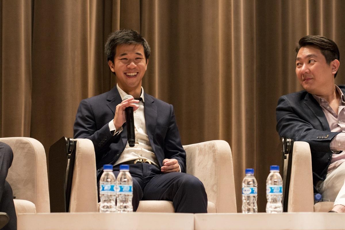Desmond on the panel of speakers